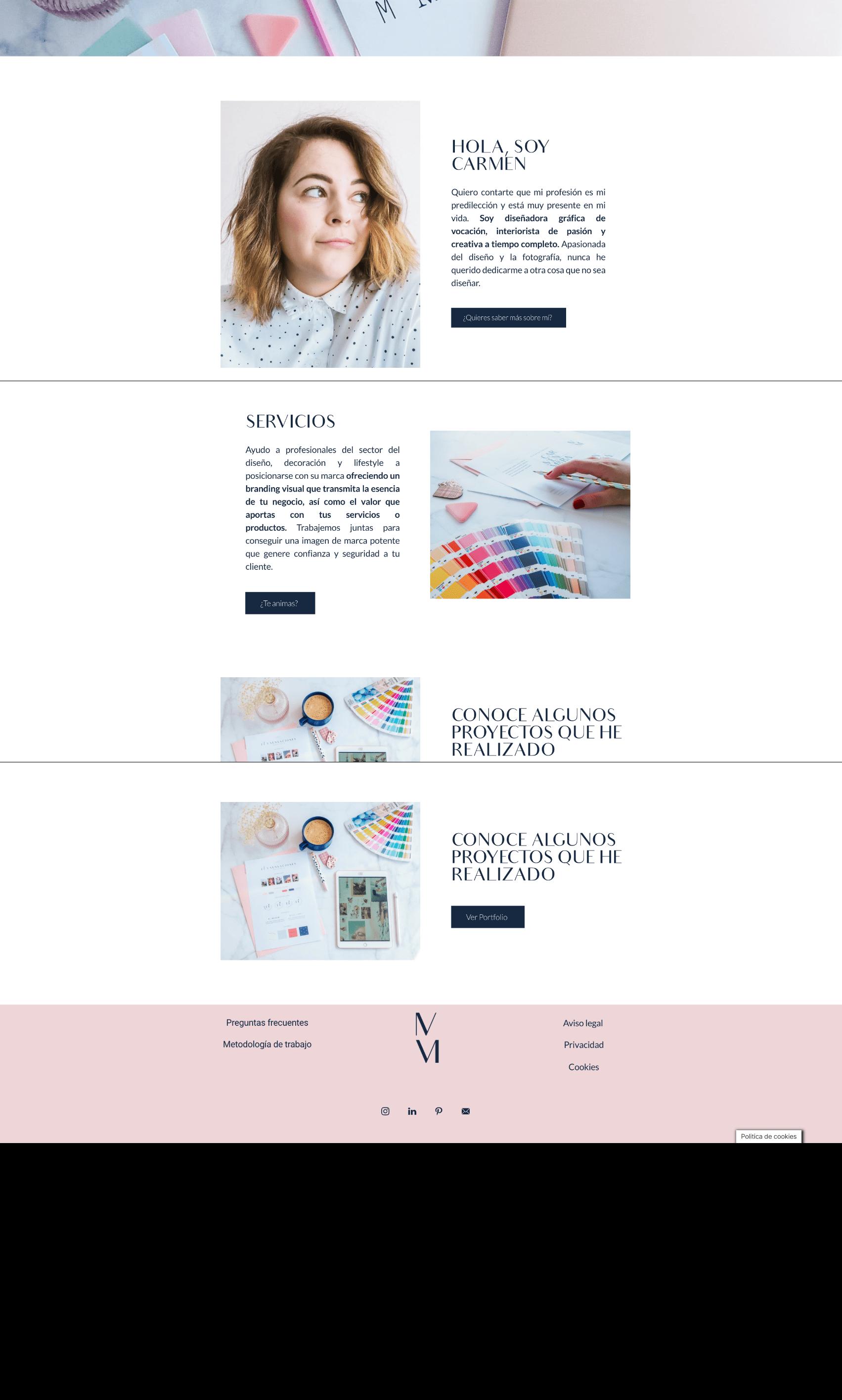 diseño web annarocha studio